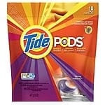 Tide Pods 18-pack for 2.99+tax w/free shipping $35+ or store pickup at BestBuy.com