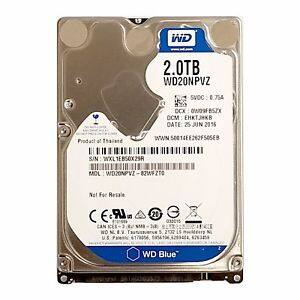 WD Blue 2TB Internal Hard Drive - 2.5 Inch (15MM) - WD20NPVZ $75