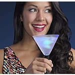 4pk LED Lighted Martini Glasses $18 + FS