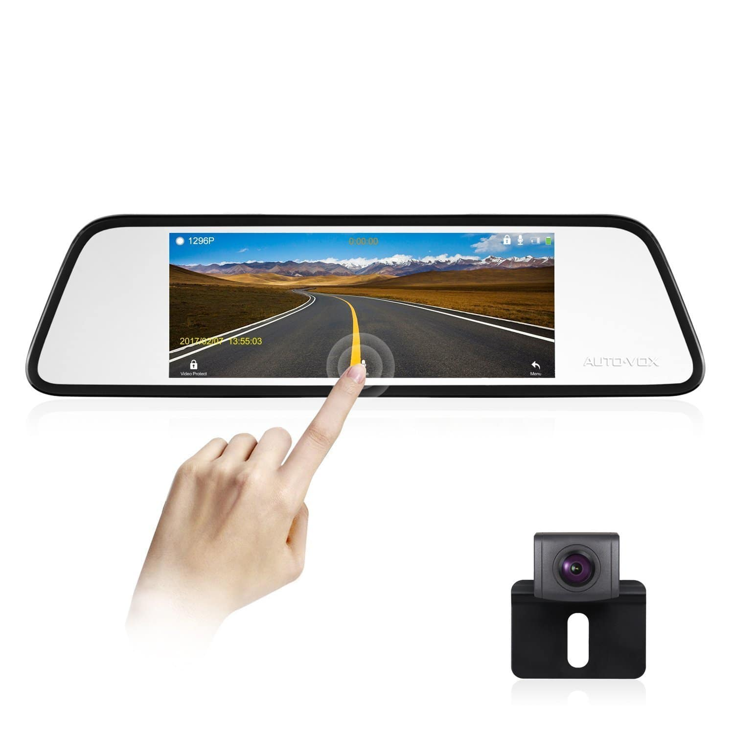 """25% OFF - AUTO-VOX M8 6.8"""" Mirror Touch Screen Dash Cam Kit with 180° Backup Camera for Parking Safety - FS @Amazon - $127.49"""