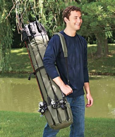 30% OFF - Thickening Canvas Fishing Rod and Reel Organizer Travel Carry Case Bag : Sports & Outdoors - $17.46