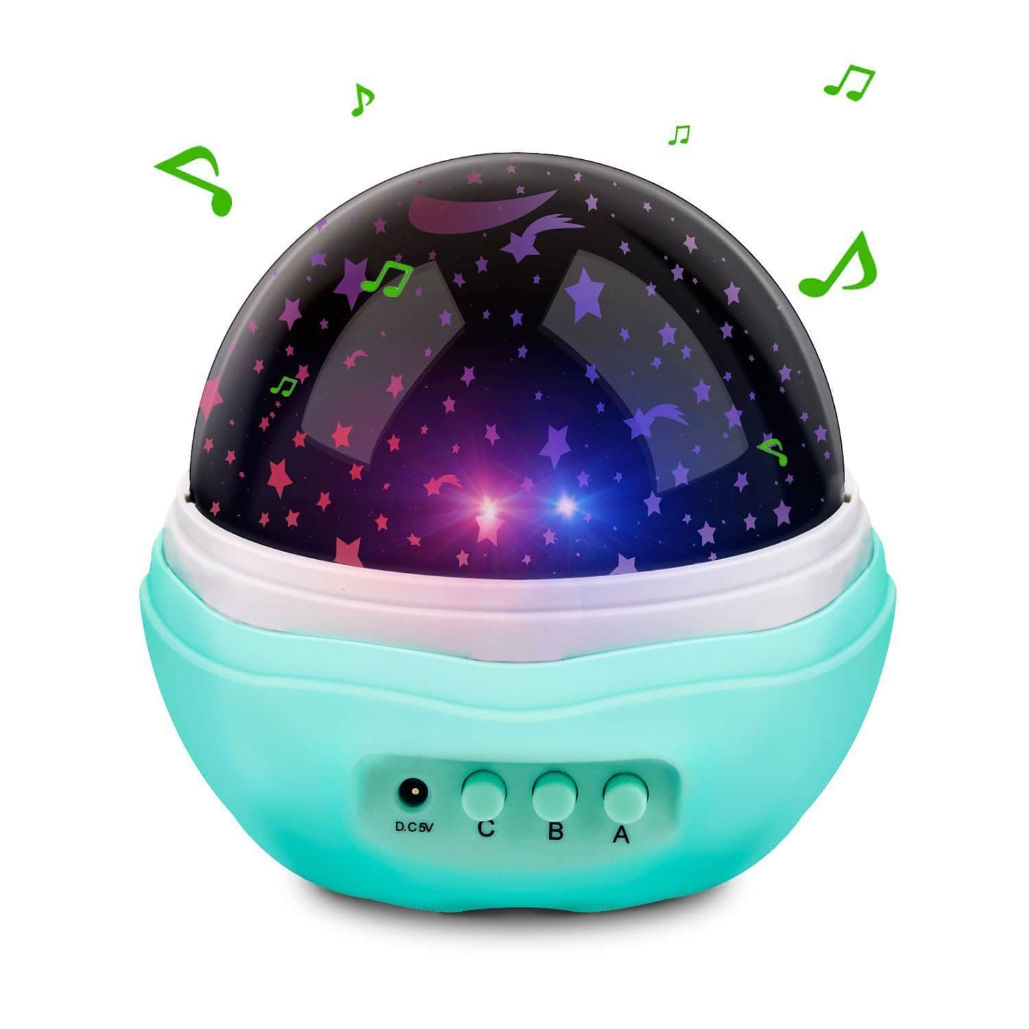 60% OFF - Rotating Starry LED Baby Night Light Projection Lamp, 12 Soft Light Music (Blue + Music) - $6.39