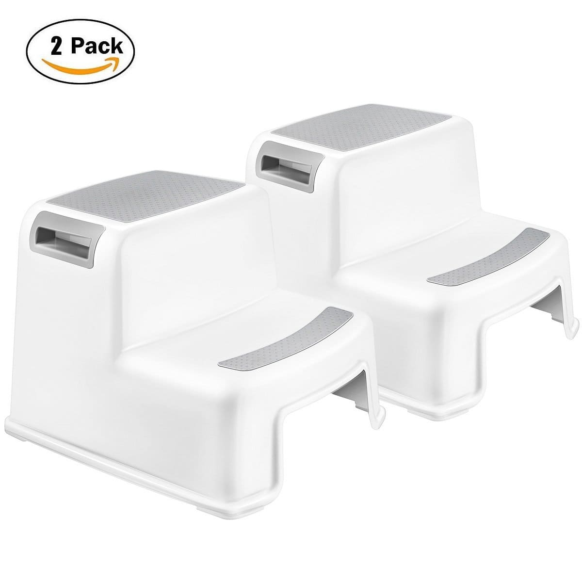 40% OFF - Dual Height Two Step Stool for Kids Toddler's Stools for Toilet Potty Training - Non-Slip Safety (2 Pack) - $21.59