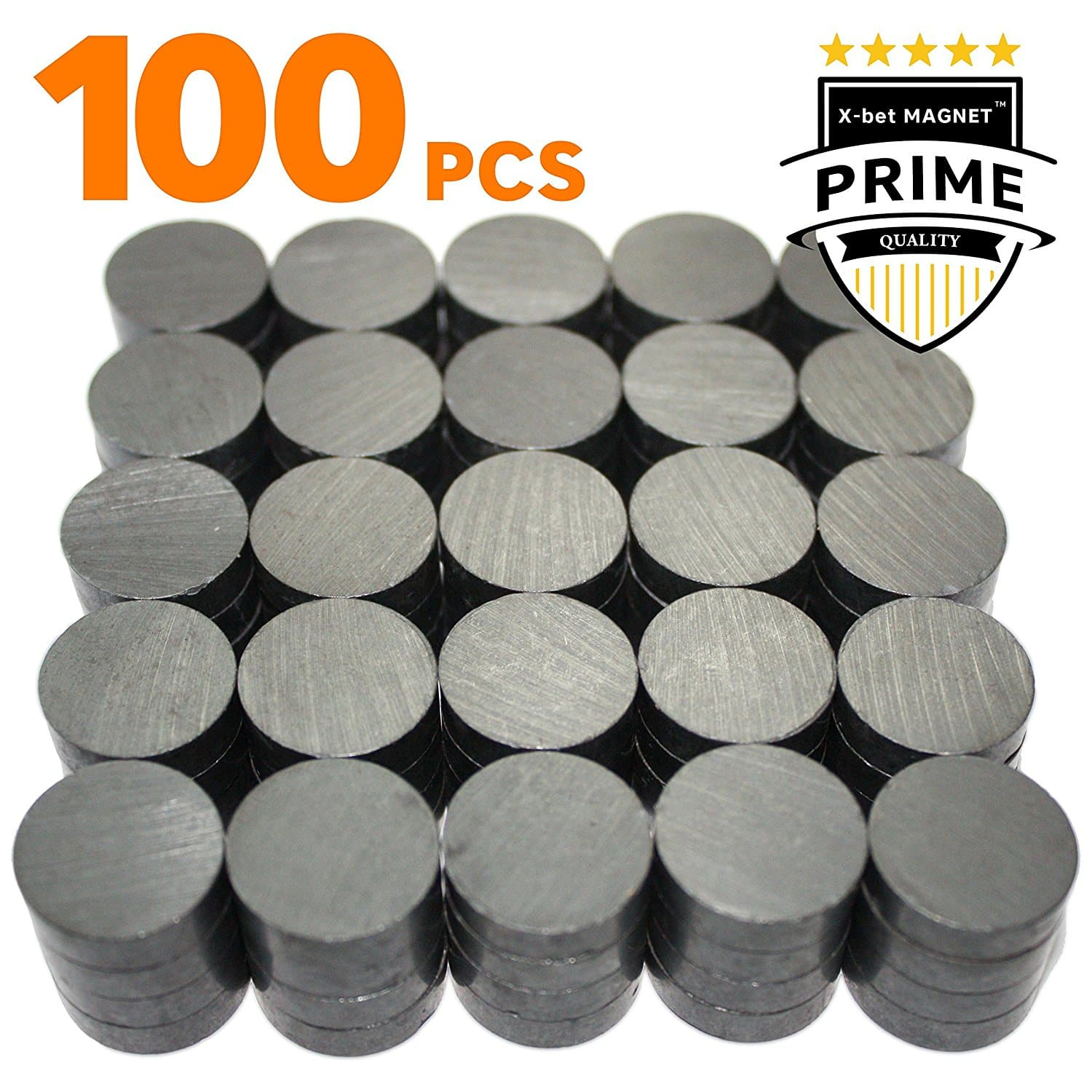 Lightning Deal -  X-bet MAGNET ™ 100 pcs Ceramic Magnets - Tiny 18 mm (.709 inch) Round Disc - Flat Circle Magnets Bulk for Crafts, Science & hobbies - $12.79