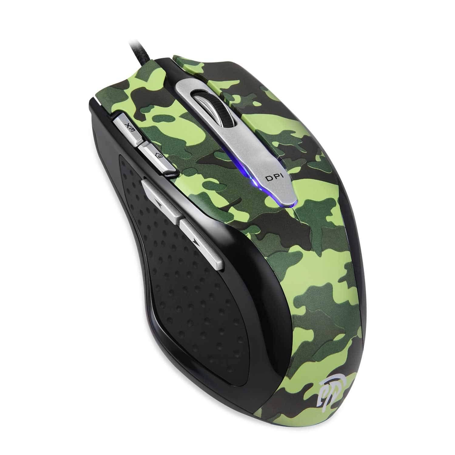 75% OFF - Wired Gaming Mouse, [8200DPI] [6 Programmable Buttons] Camouflage Gaming Mouse, 1000 Polling Rate 8 buttons for Gamers/Office Workers (Camouflage) - $7.49