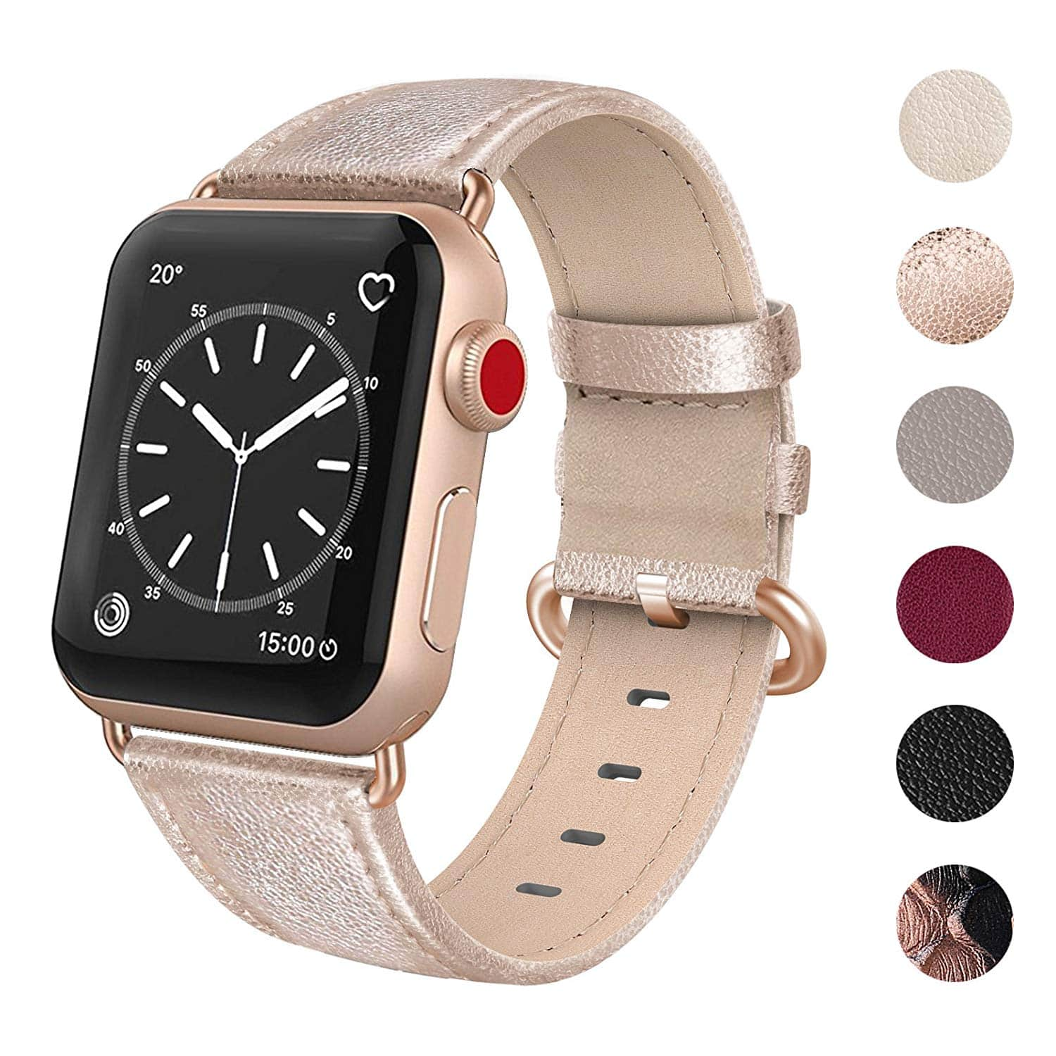 0861cc094f6 50% OFF - Genuine Leather Compatible Apple Watch Band 38mm - Watch Series 3  Series 2 Series 1 Sport Edition (Women) -  4.50