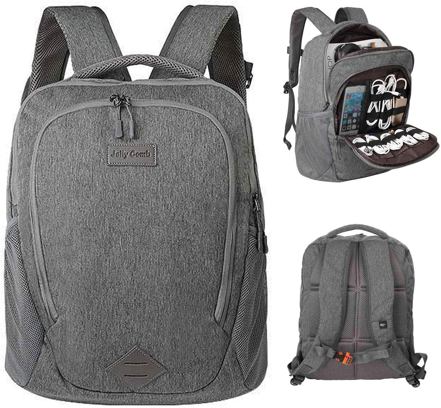 Laptop Accessories Organizer Electronic Travel Laptop Backpack 15.6'' Lightweight Computer Bag for MacBook, Laptop Charger, Cables, Power Bank - $16.41