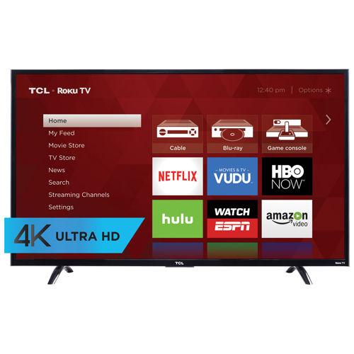 """TCL 55"""" Class 4K Ultra HD Roku LED LCD TV 55UP120    $489.99"""