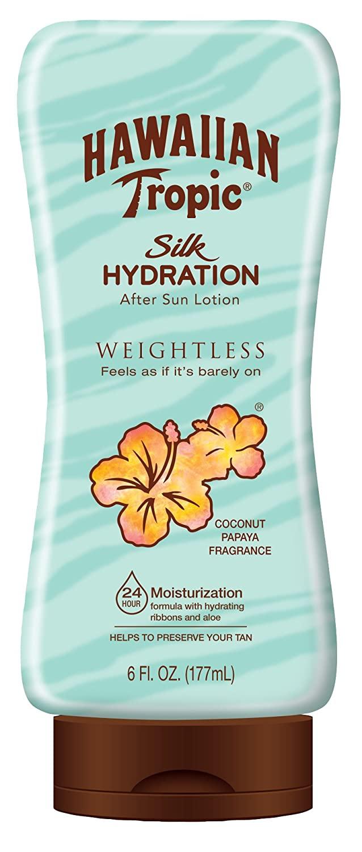 6 oz Hawaiian Tropic Silk Hydration Weightless After-Sun Gel Lotion w/ Aloe Vera & Gel Ribbons $2.73
