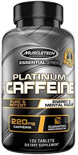 125-ct MuscleTech Platinum 100% Caffeine Pills, 220 mg $3.98 w/ 5% S&S + Free Shipping