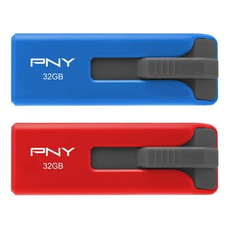 PNY 32GB USB 2.0 Flash Drive 2-Pack IN-STORE ONLY YMMV - Walmart $1
