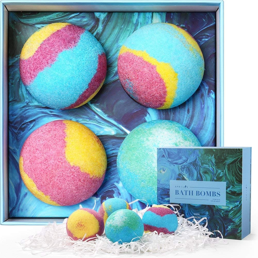 Aprilis Bath Bombs Gift Set, 5.5oz each, pack of 4 for $5.99 @Amazon.com , Free shipping with Amazon Prime