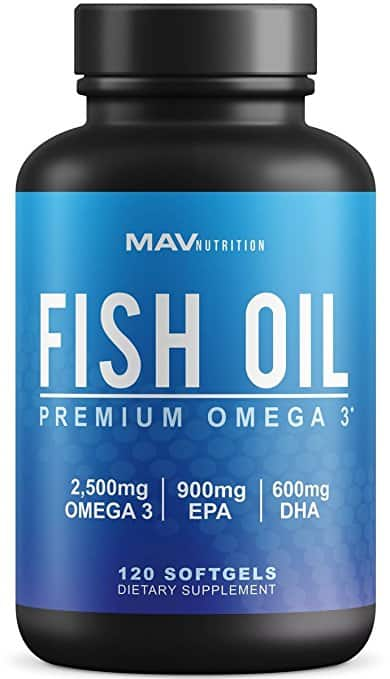 Premium Fish Oil & Omega 3 by Mav Nutrition for $2