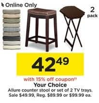 Tremendous Kohls Black Friday Allure Counter Stool Or Set Of 2 Tv Gmtry Best Dining Table And Chair Ideas Images Gmtryco