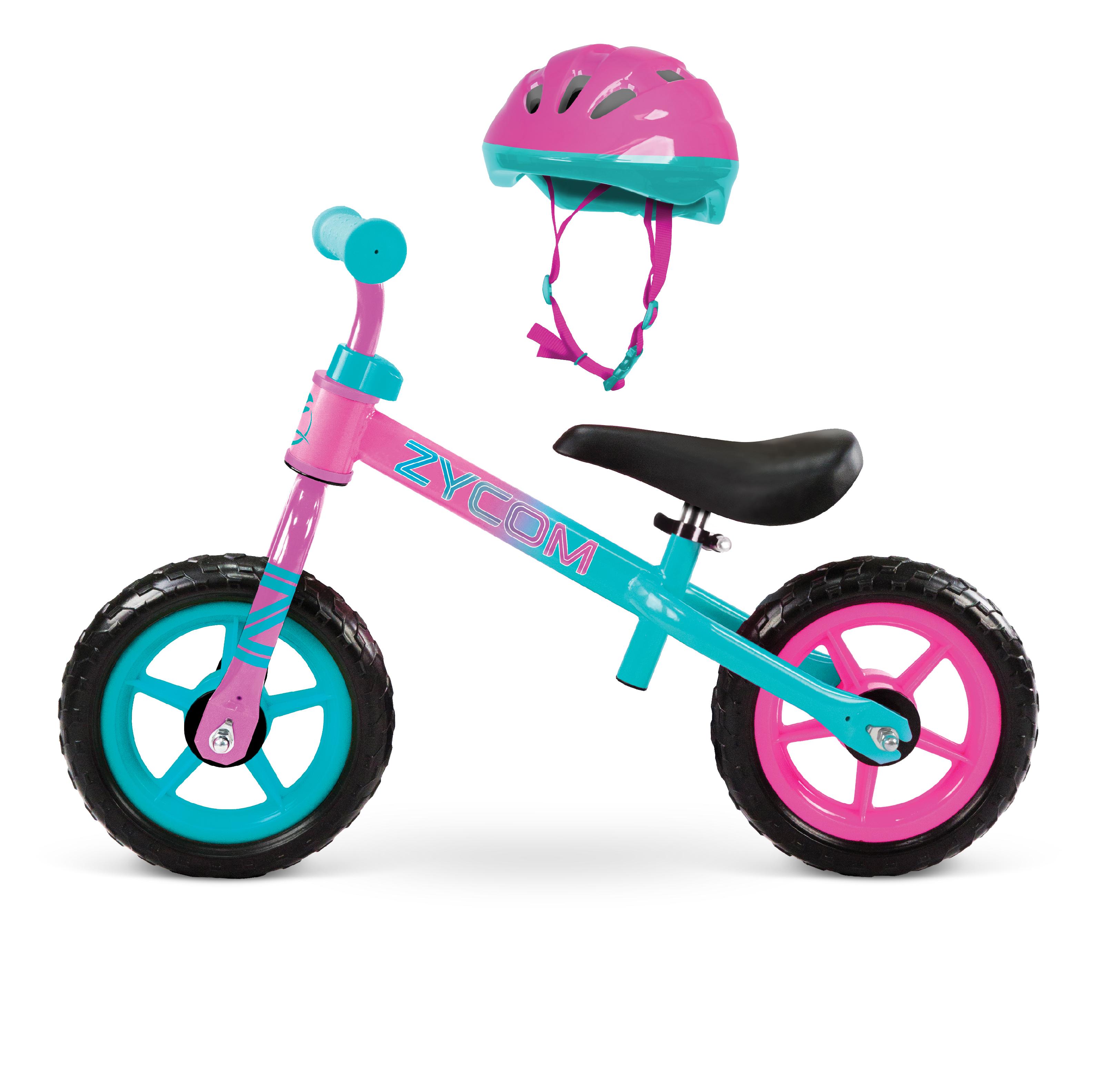 "10"" Zycom My 1st Balance Bike w/ Helmet (Teal/Pink) or (Blue/Green) $30 + Free S&H on $35"