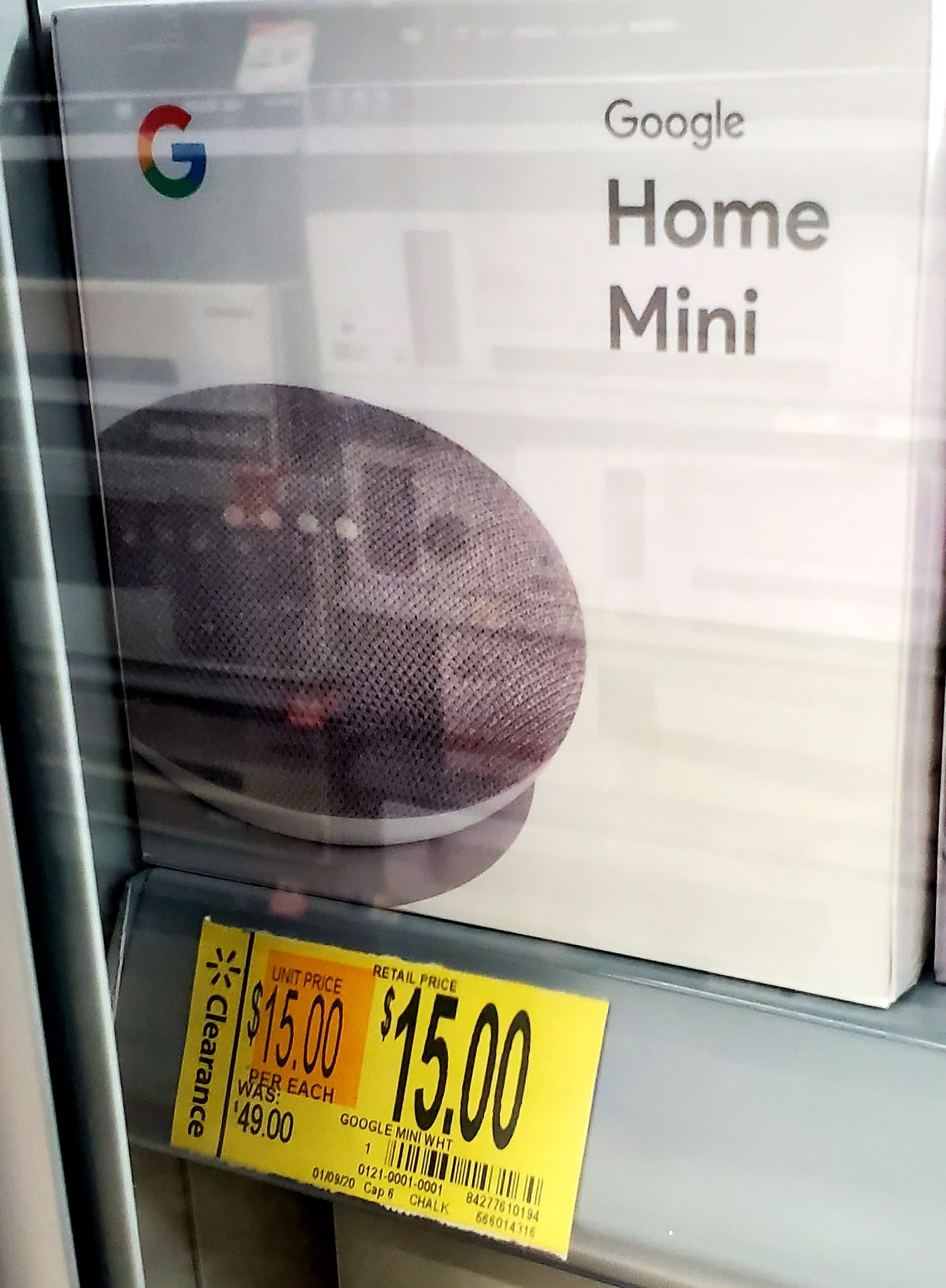 Google Home Mini (Chalk) - $15 [Walmart Clearance - B&M, YMMV] $14.99