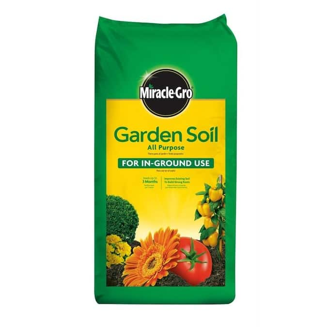 Miracle-Gro All Purpose for In-Ground Use 2-cu ft Garden Soil- $5.00
