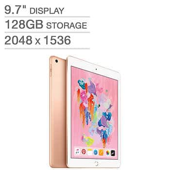 "$40-OFF Apple iPad 9.7"" A10 128GB $359"