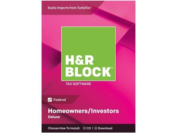 50% OFF H&R Block 2018 Tax Software