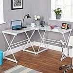 Atrium Metal and Glass L-shaped Computer Desk $80@ walmart