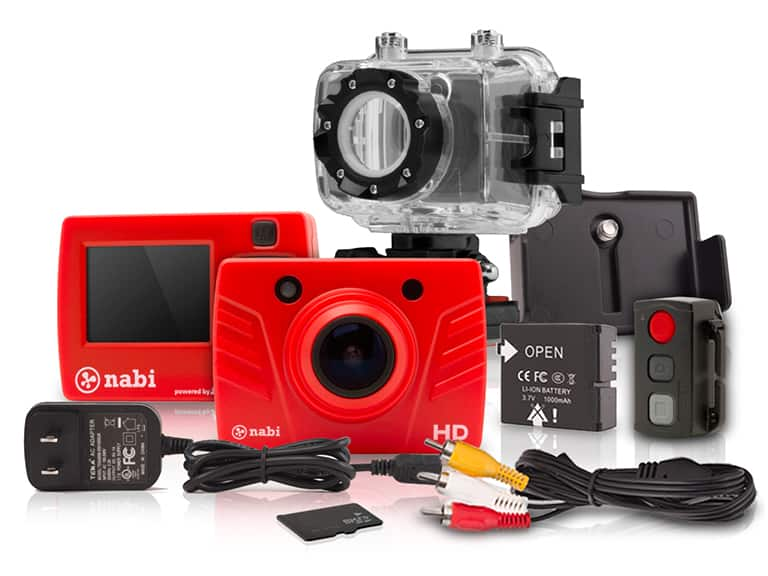 Nabi Look (Square) HD Action Camera with GoPro Accessory Kit $35 +$5 shipping (or Free with VMP)