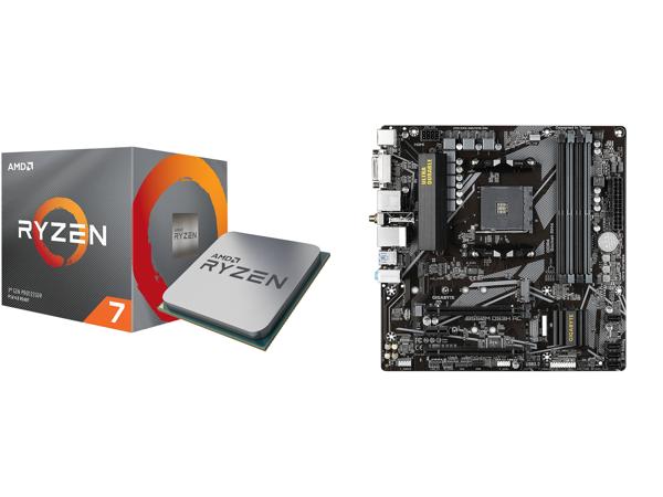 AMD RYZEN 7 3700X 8-Core 3.6 GHz (4.4 GHz Max Boost) Desktop Processor and GIGABYTE B550M DS3H AC AM4 AMD B550 SATA 6Gb/s Micro ATX AMD mobo $399.98