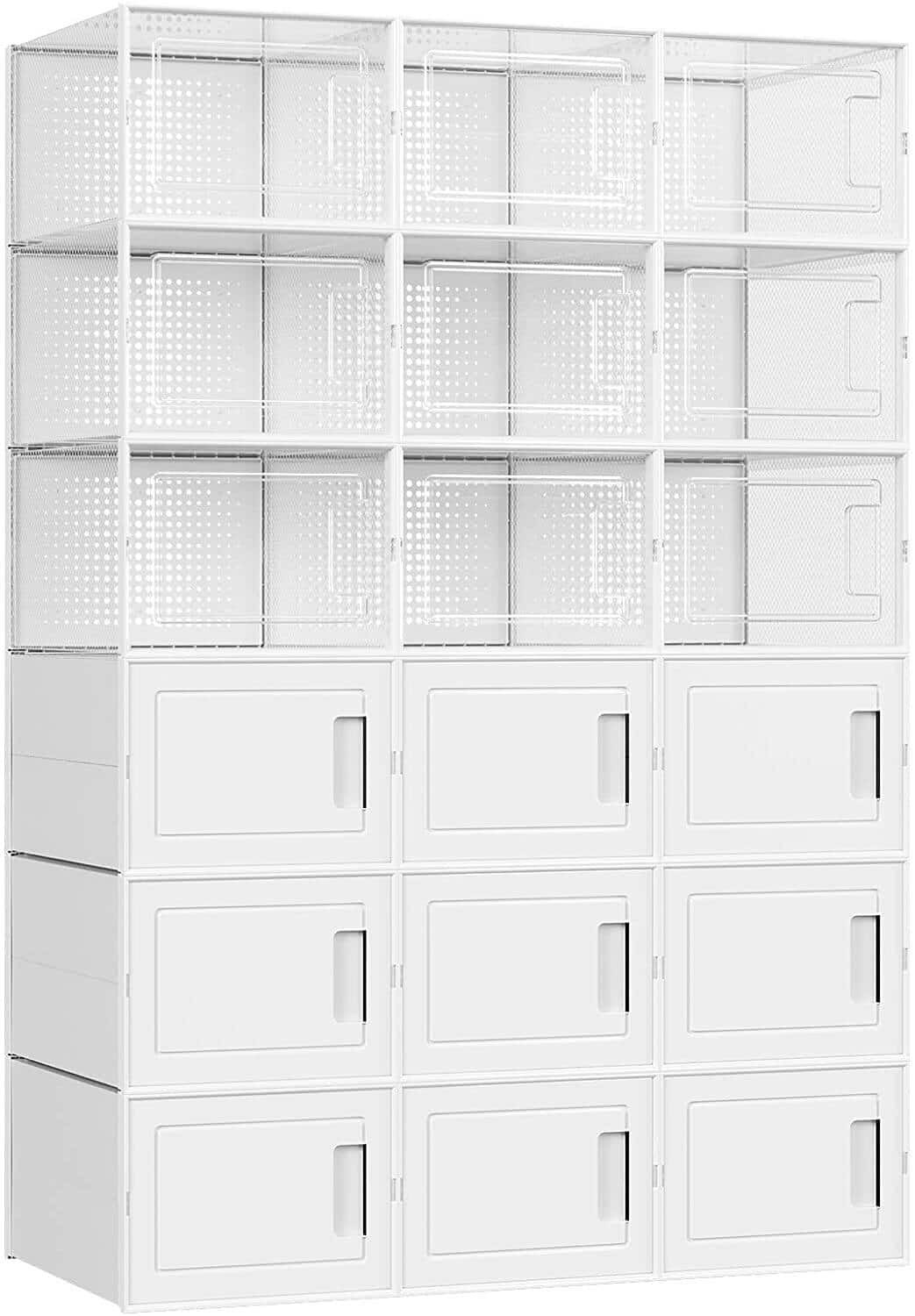SONGMICS Shoe Boxes/Storage Organizers, Set of 10 for $33.99, Set of 18 for $50.99 + FSSS