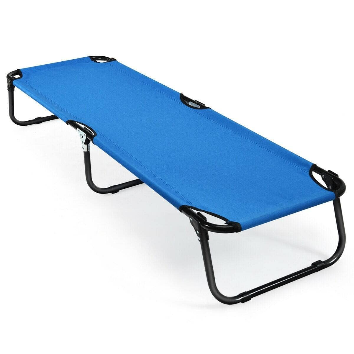 Costway Folding Camping Bed Outdoor Portable Military Cot Sleeping Hiking $42.95 + FS
