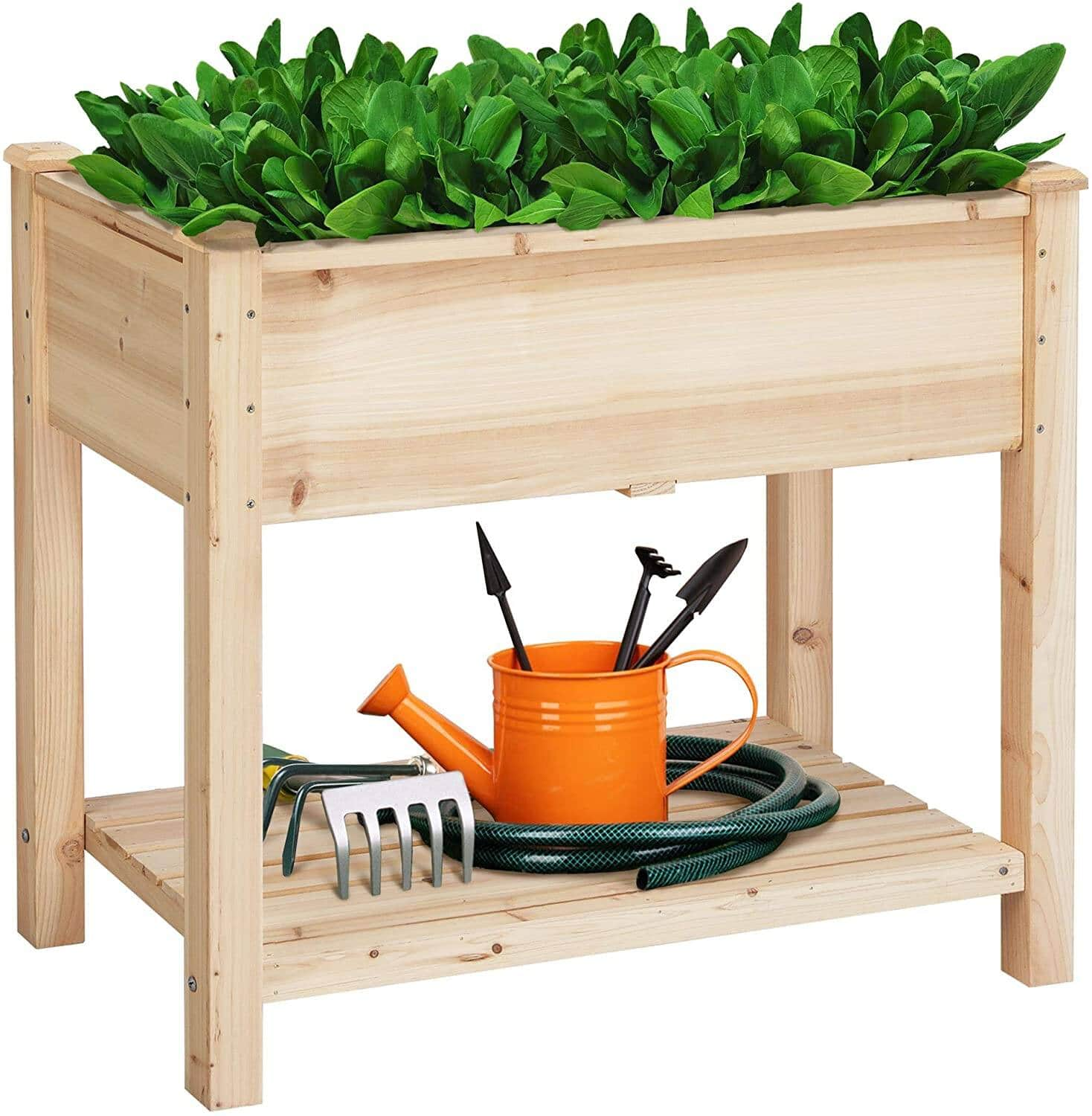 Yaheetech Wooden Raised Elevated Garden Bed Kit with Legs Planter Flower Herb Boxes $69.99 + Free Shipping