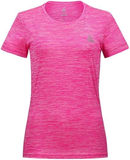 PEAK Women Moisture Wicking Athletic Shirts Stretch Short-Sleeve Crewneck Tank Top $9.99 AC + FSSS