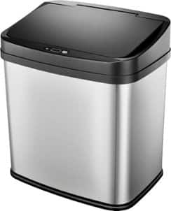 Insignia 8 Gal. Automatic Trash Can - Stainless Steel $30