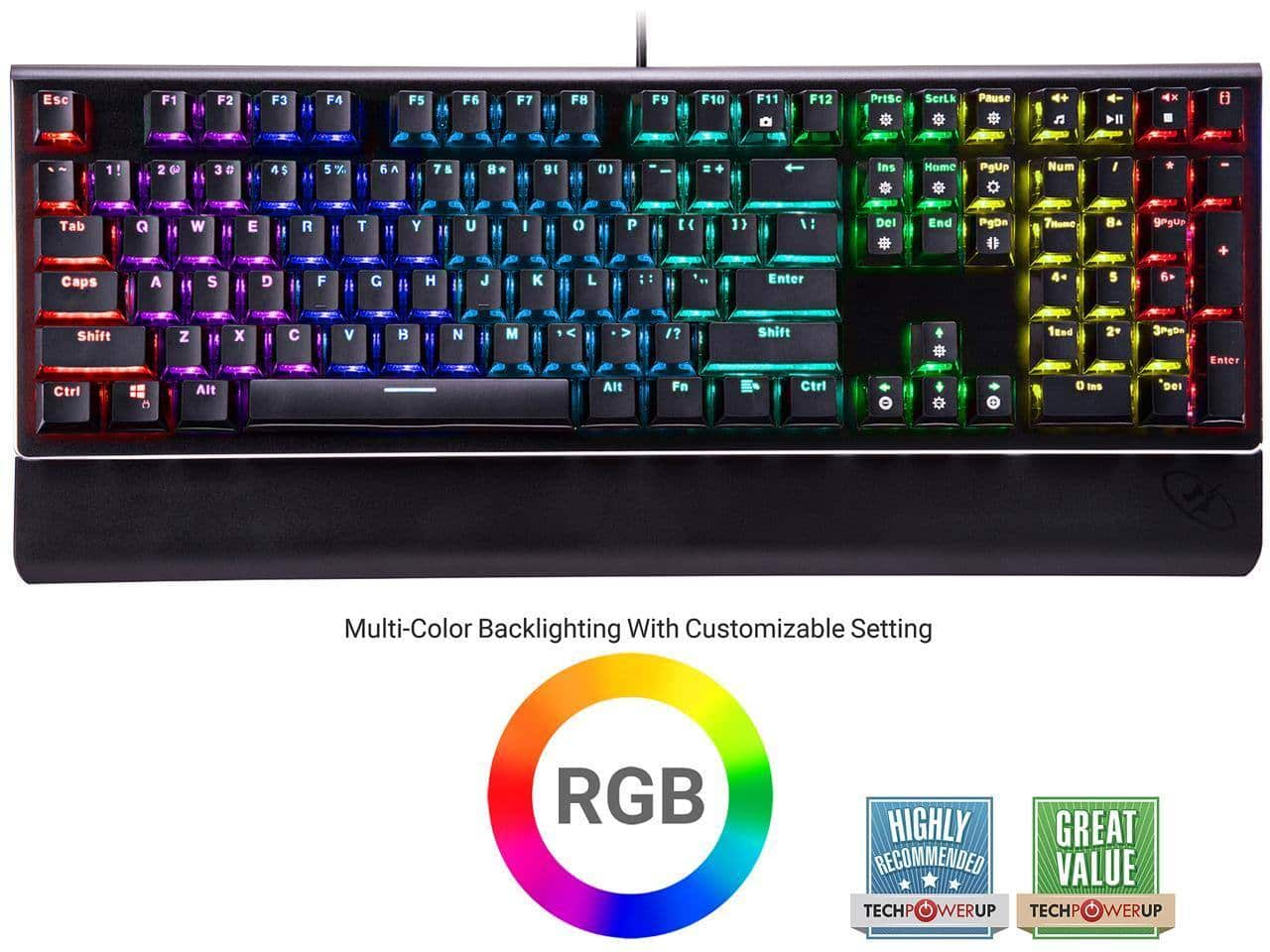 Rosewill NEON K85 RGB Mechanical Gaming Keyboard with Blue Switches for $39.99 + FS