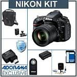 Nikon D600 24.3MP Digital SLR Camera w/ 24-85mm Lens + 32GB Lexar Pro 600x SDHC + Lowepro Bag, Nikon Wireless Remote + Mobile Adapter & More + $50 Adorama Gift Card & 4% Back in Rewards