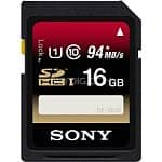 2-Pack Sony 16GB SDHC Memory Card Class 10 UHS-I (Up to 94MBs Read/45MBs Write) $25 + Free Shipping!