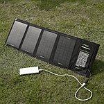 Poweradd 14W Solar Panel Foldable Charger + Poweradd Mini 5000mAh Portable External Battery Pack $46 + FSSS!