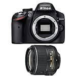 Nikon D3200 24.2 MP CMOS Digital SLR Camera with 18-55mm  VR 2 Lens (Black) Refurbished $279 + Free Shipping (eBay Daily Deal)