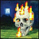 Minecraft 24 x 24-Inch Burning Skull Premium Video Game Poster (Satin 100lb Cover Stock) $6.18 Shipped!