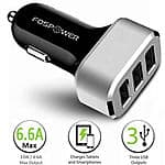 Fospower 6.6A/33W 3 Port USB Car Charger $7 + Free Shipping!
