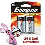 24-Pack Energizer C Max Batteries $15 or 48-Pack for $25 + Free Shipping!