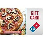 Gift Cards: $30 Domino's Gift Card $25, $50 Jiffy Lube Gift Card  $40 & More + Free Shipping
