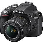 Nikon D3300 DSLR 24.2 MP with 18-55mm VR II Lens [Factory Refurbished] $329 + Free Shipping!