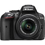 Nikon D5300 DX-Format DSLR Camera with 18-55mm VR, 55-200 Zoom Lens (Refurb) $489 + Free Shipping!