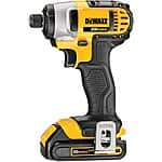 Dewalt 20V MAX Cordless Lithium-Ion 1/4 in. Impact Driver Kit (Manufacturer refurbished) for $110 + Free Shipping!