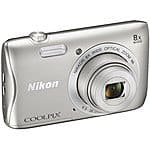 Nikon Refurbished COOLPIX S3700 20.1MP Digital Camera w/ 8x Optical Zoom, Wi-Fi & NFC for $69 AC + Free Shipping!