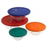 Amazon Deal: Pyrex Smart Essentials 8-Piece Mixing Bowl Set w/ Colored Lids $12.15 + FSSS!