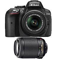 eBay Deal: Nikon D5300 DX-Format DSLR Camera w/ 18-55 VR, 55-200 VR - Factory Refurbished $580 + Free Shipping (eBay Daily Deal)