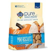 That Daily Deal Deal: 8oz Nature's Recipe Pure Essentials Limited Ingredient Biscuits Dog Treats (Chicken and Pumpkin or Salmon and Potato) $3 AC + Free Shipping!