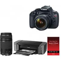 Focus Camera Deal: Canon EOS Rebel T5 DSLR with 18-55mm & 75-300mm Lenses + PIXMA PRO-10 Inkjet Printer & Semi-Gloss Photo Paper $449.00 AR + Free Shipping!