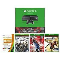 Xbox One 500GB Gears of War: Ultimate Edition Console Bundle + Assassins Creed Unity + Final Fantasy HD + NBA 2K15+ Xbox 3 Month Live Card $  350 + Free Shipping!