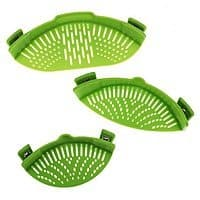 Set of 3 Epoca Silicone Pot and Pan Strainers $  17 + Free Shipping!
